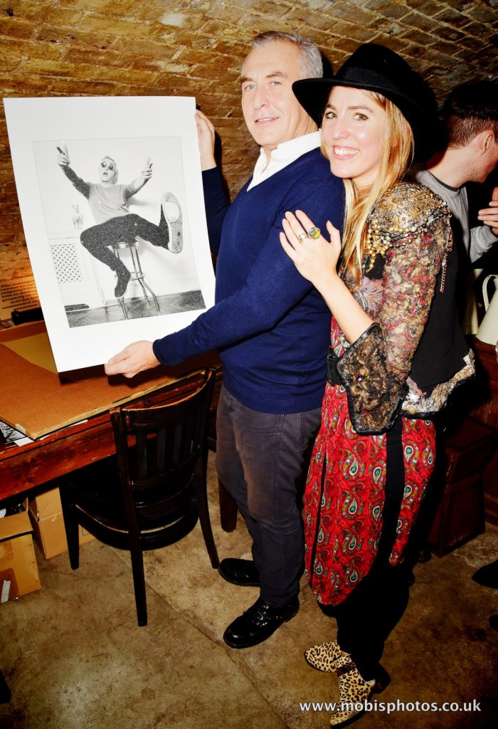 """OIC - ENTSIMAGES.COM - Gemma Reynolds and Damon Rochefort at the Fine Art Photography Exhibition By Gemma Reynolds Photography launching her unseen fine art Rock'N'Roll December """"gem rey"""" collection in London 4th December 2015 Photo Mobis Photos/OIC 0203 174 1069"""